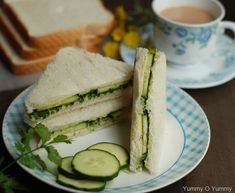 Cucumber Chutney Sandwich (Indian Tea Sandwich)