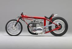1969 Triumph Powered Dragster Alcohol burning 850cc four stroke, pushrod overhead valve twin cylinder engine.