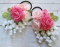 Crochet Flower Tutorial, Crochet Lace Edging, Crochet Leaves, Thread Crochet, Crochet Dolls Free Patterns, Crochet Flower Patterns, Crochet Designs, Crochet Flowers, Crochet Hair Clips