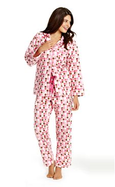 Go mod in our candy dot soft cotton flannel pajamas.- 100% brushed cotton flannel- Drawstring waist with a touch of elastic in back for comfortable  ...