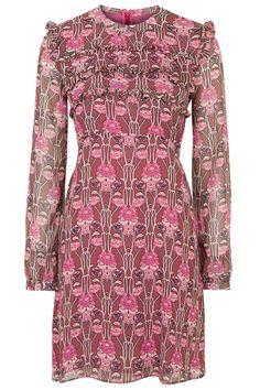 Floral Print Ruffle Dress - Glamorous- Topshop