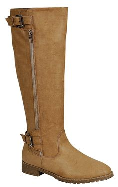 Reneeze GAP-01 Women Knee High Riding Cowboy Boots - Beige * You can find more details by visiting the image link.