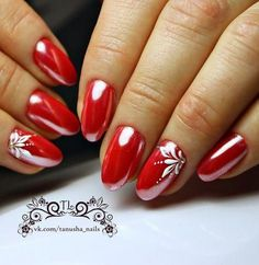 In order to provide some inspirations for your winter nail art designs, we have specially collected 72 winter nails red colors for your short nail designs. I hope you can find a satisfactory style from them. Simple Nail Art Designs, Gel Nail Designs, Cute Nail Designs, Easy Nail Art, Xmas Nails, Red Nails, Christmas Nails, Valentine Nail Art, Short Nails Art
