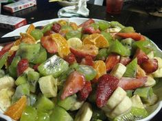 """Whenever I serve this fruit salad with banana pudding dressing it always gets rave reviews and the question always comes up, """"How did you make that marvelous dressing?"""" Home and Garden Digest http://www.homeandgardendigest.com/fruit-salad-with-banana-pudding-dressing/"""