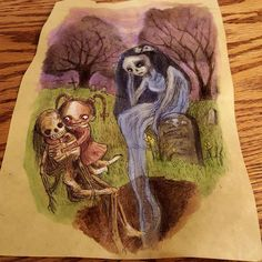 """50 Likes, 2 Comments - Kamila Mlynarczyk (@woodedwoods) on Instagram: """"#stay #mama #sketch #drawing #zombie #monster #undead #doodle #death #mementomori #flowers…"""""""