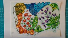 Flower doodle. Art and beauty.