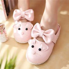 Kawaii mouse cute bow slippers