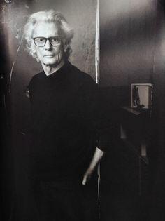 Richard Avedon photo by Annie Leibovitz at his Studio, on East 75th Street, New York, 2001.