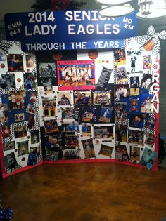 Senior Recognition Night Board I made for Girls Basketball