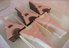 pirulito de chocolate torre eiffel