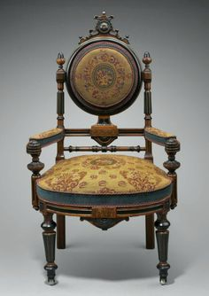 Kilian Brothers armchair, c. 1870. Courtesy of the Museum of Fine Arts in Boston.
