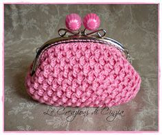 Diy Crochet Coin Purse, Crochet Change Purse, Crochet Clutch Pattern, Bag Pattern Free, Crochet Purses, Crochet Patterns, Crochet Bag Tutorials, Crochet Projects, Bobble Stitch