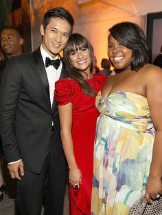 Harry Shum Jr, Lea Michele and Amber Riley