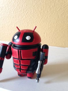 Deadpool custom android vinyl toy google kidrobot