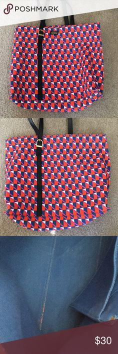 Kate Spade Saturday orange and blue tote Used once. Great condition. Comes with original dust bag. kate spade Bags Totes