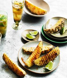 Char-grilled pineapple wedges with chilli salt :: Gourmet Traveller Magazine Mobile