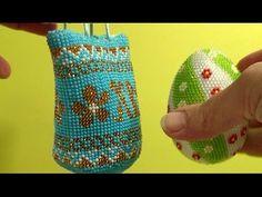 Вязание бисером. Пасхальное яйцо из бисера. Часть 2. - YouTube
