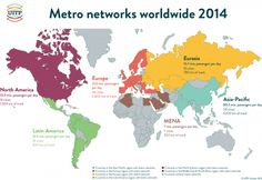 In 2014 an average of 160 million passenger journeys were done every day in the 157 cities with a metro network. In tandem with the increase in the worldwide urban population, metro networks have been expanding at a remarkable pace. Approximately 40% of the 11,300 km of metro track infrastructure have been put into operation since 2000. During 2014 new systems were inaugurated in Salvador (Brazil), Changsha, Ningbo and Wuxi (China), Mumbai (India), Shiraz (Iran) and Panama City (Panama).