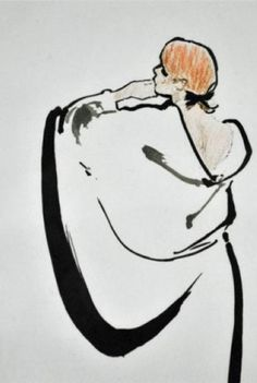 By René Gruau, Woman from behind.