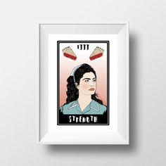 Twin Peaks // Shelly Johnson 'Strength' Tarot by EstelleMorrisShop