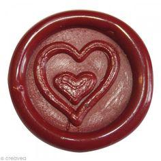 Sello de cera para pegar Rojo Corazón x 10 - Fotografía n°1