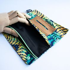 Textiles, Pocket Pattern, Blue Fabric, Zipper, Tote Bag, Sewing Ideas, Ebay, Wallets, Leather