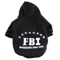 Kailian ® FBI Sports Pet Dog Sweater Puppy Cat T Shirt Warm Coat Hooded Clothes Apparel -- Quickly view this special dog product, click the image : Dog sweaters