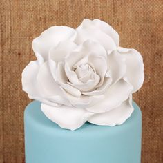 White Gumpaste Gardenia Sugarflower edible cake decoration perfect for cake decorating fondant cakes & wedding cakes. | CaljavaOnline.com