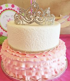 Princess birthday cake or baby shower cake #celebrate #cake
