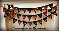 eighteen25 Halloween Pennant Banner (can be used for any holiday countdown) Christmas pennant banner, Thanksgiving pennant banner, Valentines pennant banner