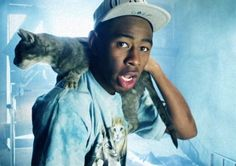Tyler, The Creator and a Kitty.