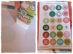 Bricolage en rouleaux de papier toilette #5 : un calendrier de l'avent |La cour des petits Bricolage Noel, Diy Paper Crafts, Shutters, Wraps, Arts Plastiques