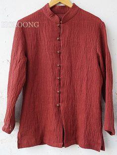Vintage Republic of china Casual shirts Front opening Men Base Shirts