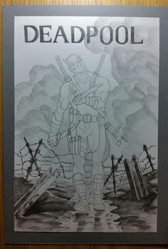 Deadpool pencil drawing.