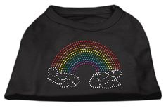 Rhinestone Rainbow Shirts Black S (10)