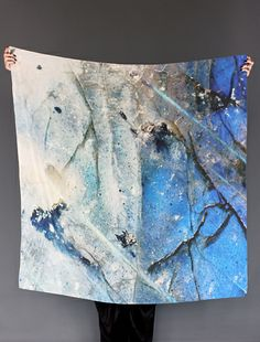 labradorite silk scarf:  photographs from CISTHENE owner Jen Altman's book Gem and Stone: Jewels of Earth, Sea and Sky