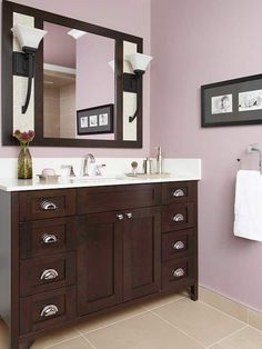 Purple: Sweet Lavender  Once on the walls, paint colors intensify, and lavender is a strong paint color. A rule of thumb: Choose the top (and the lightest) color on the paint card when selecting lavender for the walls.  -- Jeffrey Bilhuber, New York City designer