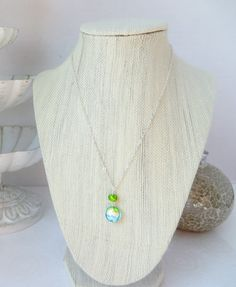 Green and Teal Venetian Glass Bead Necklace by InstinctBoutique, $23.00