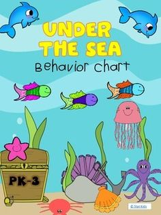 This Under the Sea themed behavior clip chart may be printed on white cardstock and laminated for durability.   Then, attach each level to each other using book rings or gluing a blue ribbon on the back of each card with a hot glue gun.   The cards go in the order below, but you may choose to change it according to your needs.