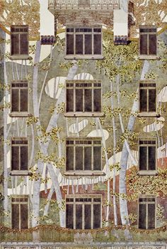 Project for an apartment house facade, architect Hans Schlechta 1901    Schlechta was a pupil of Otto Wagner. There is a wonderful, richly illustrated volume of Wagners' pupils' works published by Walter Zednicek, chronicler of Viennese art nouveau architecture.
