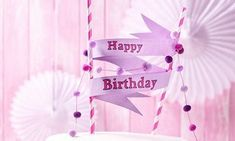 Aufregende Geburtstagstorten-Rezepte | Dr. Oetker Cake Toppers, Happy Birthday, Neon Signs, Pom Poms, Recipes, Birthday Cupcakes, Bakken, Birthday Cakes