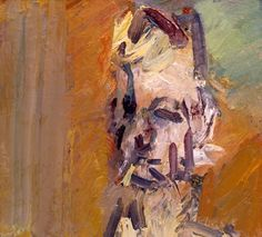 Frank Auerbach - Head of William Feaver II 2008, 2008  oil on canvas  51.1 x 56.2 cm.(20 1/8 x 22 1/8 in.)