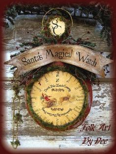 i love this dee duncan pattern for santa's magical watch