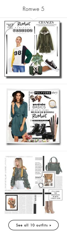 """""""Romwe 5"""" by besirovic ❤ liked on Polyvore featuring Caffé, Hedi Slimane, Diane Von Furstenberg, L.A. Girl, Setton Brothers, Post-It and Tiffany & Co."""