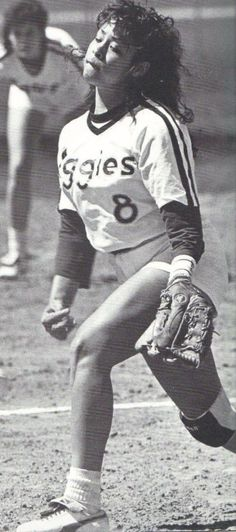 Aggie softball pitcher Shawn Andaya led the Lady Ags to two National Championships in the 80's