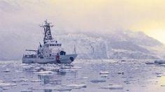 U.S. Coast Guard ship on patrol in Alaska