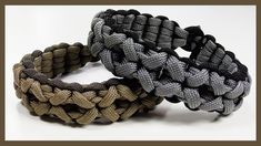 "Paracord Bracelet: ""Clove And Dagger"" Bracelet Design Without Buckle"