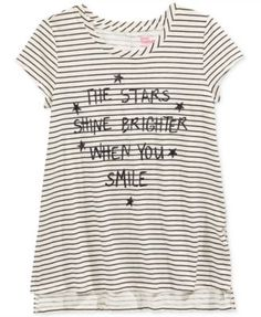 Epic Threads Girls' Stars Graphic-Print Striped T-Shirt, Only at Macy's