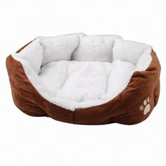 TOOGOO(R) Luxury Unique Warm Indoor Soft Pet Dog Cat Bed Cushion Dog Puppy Sofa House Bed with Mat Supplies L Brown -- Continue to the product at the image link. (This is an affiliate link and I receive a commission for the sales) Pet Dogs, Dogs And Puppies, Puppy Beds, English Bulldog Puppies, Indoor Pets, Bed Cushions, Cool Dog Beds, The Perfect Dog, Dog Diapers