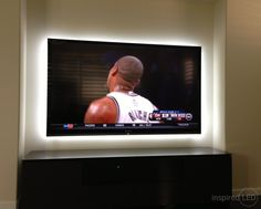 Cool idea: LED lighting behind a TV to reduce eye strain. See more on LightsOnline Blog!